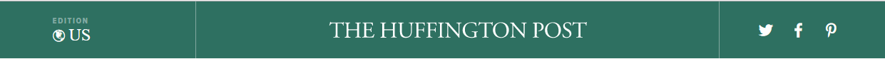 huffington post masthead clean